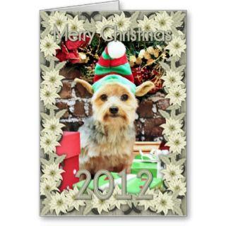 Christmas   Yorkie   Vinnie #32 Card