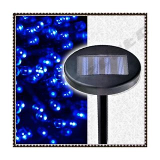 Solar 100 LED Lichterkette blau Aussen Weihnachten Deko