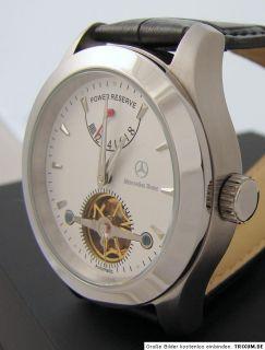 Mercedes Benz Automatik Gangreserve Edelstahl Uhr power reserve men