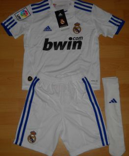 Adidas Real Madrid Minikit Set Trikot + Hose + Stutzen Kinder Junior
