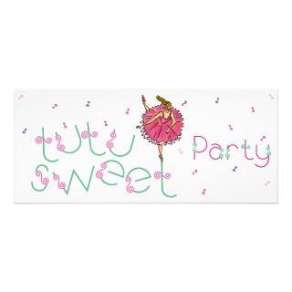 4x9.25 Tutu Sweet Party Invite
