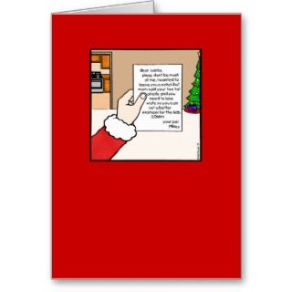 Funny Santa Claus Christmas Card