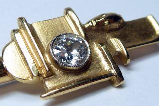 Art Deco Bauhaus 585 Gold Diamant 075 ct. Skulptur Brosche um 1930 Nr