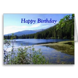 Happy Birthday, Bear Lake, Colorado Greeting Card
