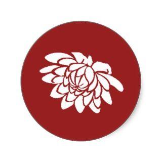Lotus Flower Sticker (red)