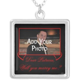 Add Your Photo Will You Marry Me Marriage Proposal Custom Necklace