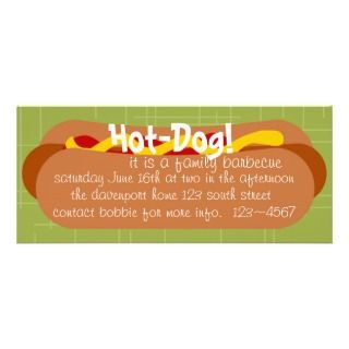 Hot Dog Party Personalized Invite