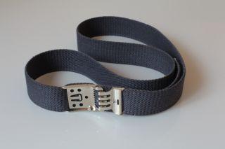 Gürtel Stoffgürtel canvas belt blau 100 120cm mit Schnellverschluss