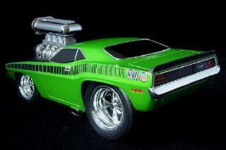 1970 Plymouth CUDA Green 118 Scale Diecast