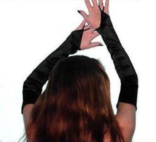 Party Extra Lang Armstulpen Handschuhe Stulpen Schwarz Neu