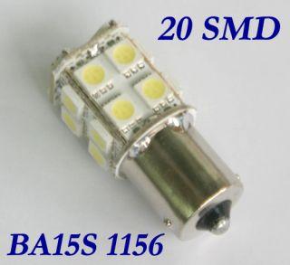 1156 382 BA15S P21W 20 SMD LED Bulb White Tail Light
