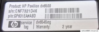 HP Pavilion DV 6500   dv6545eg, Notebook , Laptop,Computer,PC,Bastler