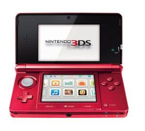 Nintendo 3DS Metallic Red Handheld Spielkonsole PAL 0040004813206