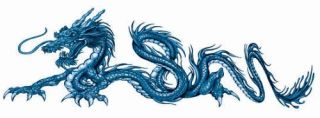 Aufkleber Decal Blue Dragon Left Drachen Blau Links Airbrush Tank