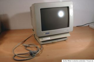 Atari ST Monitor (monochrom) Model SM124 mit Touch n Turn Fuss #K86