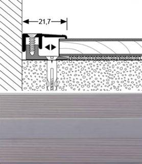 Abschlussprofil Typ 387 L/P Länge 90 cm Farbe EDELSTAHL