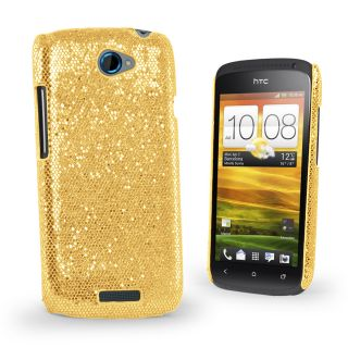 Sparkle Glitter Hard Case Cover For HTC ONES ONE S + Screen Protector