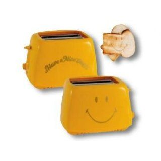 Smiley Toaster Have a nice Day   GELB Küche & Haushalt
