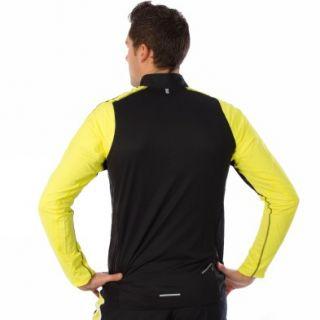 Nike Ls Zip Schwarz Gelb Langarm T shirts Herren Laufen Neu