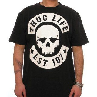 THUG LIFE Skull Tee T Shirt  black