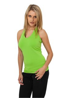 URBAN CLASSICS  Ladies Neckholder Shirt (lime green)   TB382