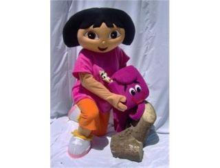Unisex Adult Size Explorer Girl Dora Mascot Costume
