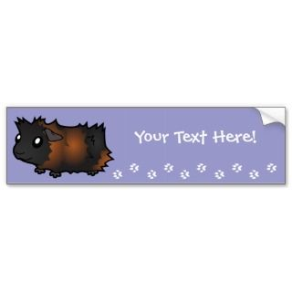 Cartoon Guinea Pig (black brindle) bumper stickers by SugarVsSpice