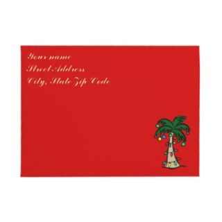 Christmas Palm Tree Invitation Envelope by Christmas_T_Shirts