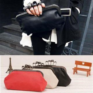 New 2012 Women Ring Bag Skeleton Skull Finger Clutch Purse Evening