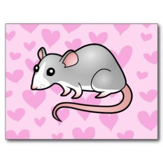 Rat Love (silver blaze) postcards by SugarVsSpice