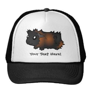 Cartoon Guinea Pig (black brindle) hats by SugarVsSpice