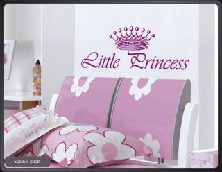 A405 Little Princess Wandtattoo Aufkleber Kinderzimmer