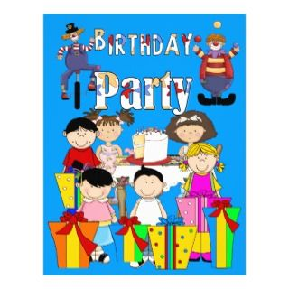 Flyer Kids Birthday Party Invite Children