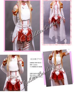 Sword Art Online Asuna Yuuki Cosplay Costume   Custom made in any size
