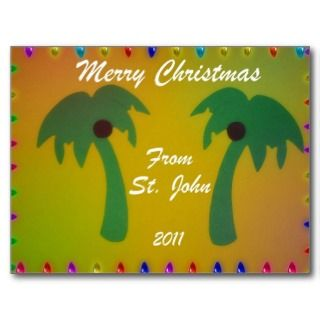 Merry Christmas St. John 2011 Post Cards