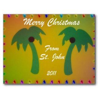 Merry Christmas St. John 2011 Post Cards