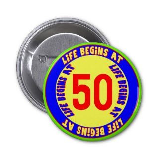 50th birthday party favors 50th birthday buttons 50th birthday party