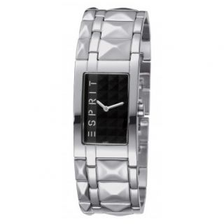 Esprit Uhr 102442003 Pure Black Rock Houston Damen Uhr NEU