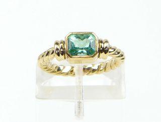 Goldring 750er Ring Smaragd Gold 750 Solitär Damenring Herrenring