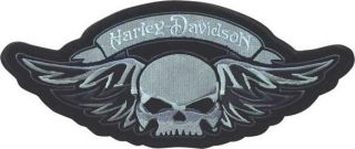 HD Harley Davidson Winged Skull Bar Shield Aufnäher Patch
