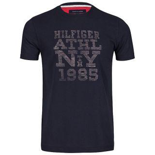Tommy Hilfiger Herren T Shirt mit Motiv Shirts THOMAS rot blau grün