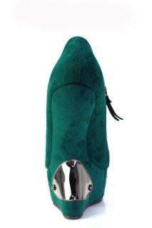 Plateau Schuh Wedges Pump Grün Lady Gaga Style 36 37 38 39 40