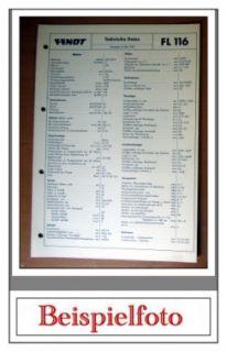 datenblatt zum fendt farmer 409 fahrgestell nr 409 0001 bis 409