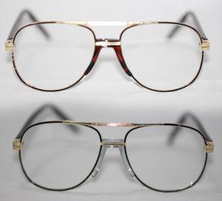 80er Jahre Nerd Brille Pilotenbrille AviatorHerren gold 407