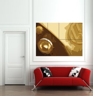 VW CAMPER VAN GIANT MOSAIC WALL POSTER PRINT BK423