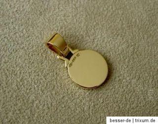 Orig. Bulgari Anhänger 18k Gold mit Onyx Pendant