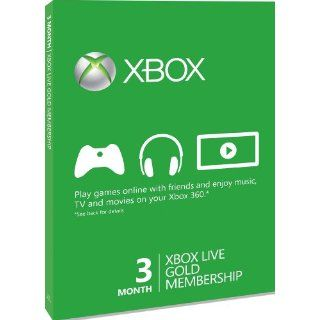 Xbox 360   Xbox LIVE Gold 3 Month Membership Card [UK Import]