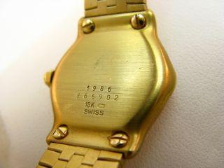 426 Ebel Sport 1986 Damenuhr Gelbgold Gold mit Diamantlünette