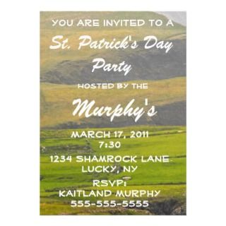 St. Patricks Day Party Celebration Invitation