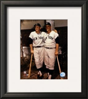 Mickey Mantle and Roger Maris  Palm Trees Framed Photographic Print